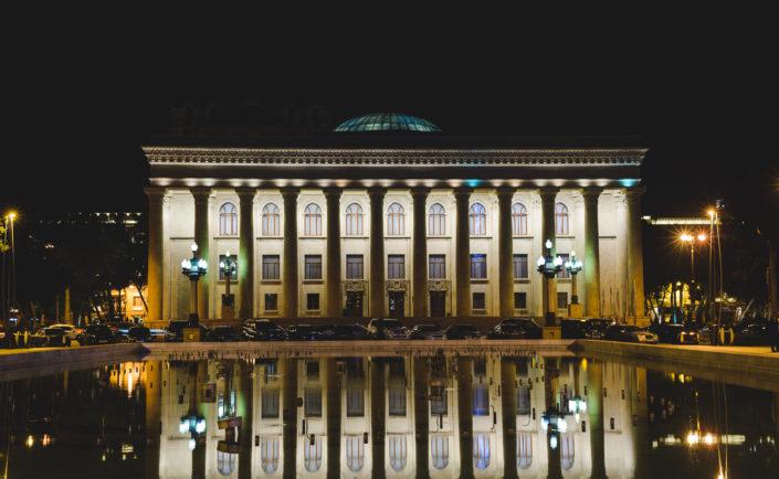 Путешествие: город Баку ночью