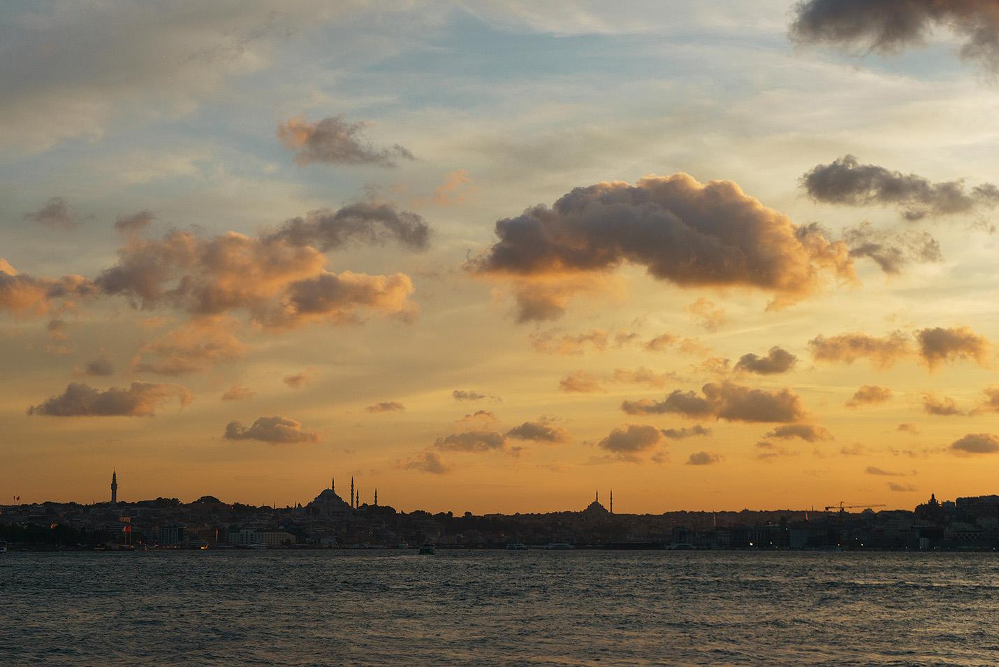 Фотосессия на закате в Стамбуле