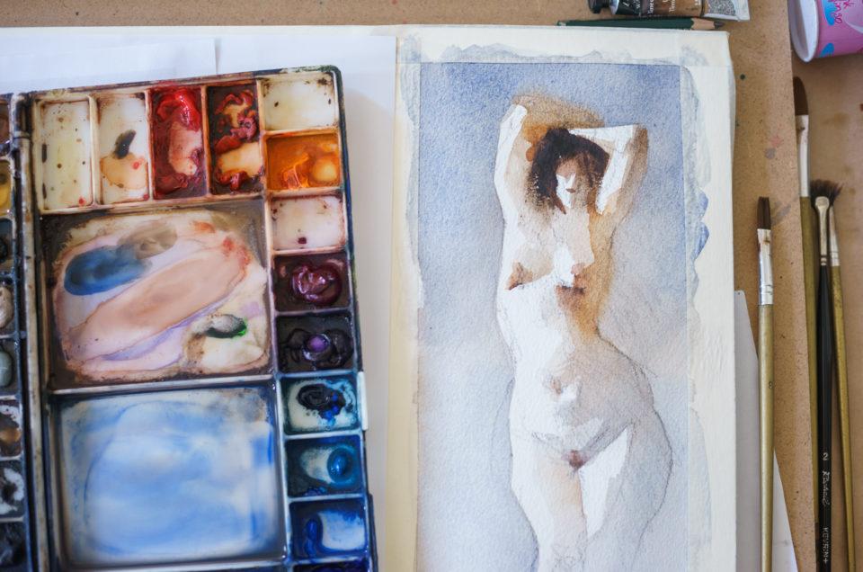 Watercolor – рисуем акварелью: мастер-класс в школе рисования.